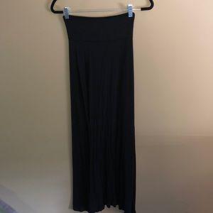 Woman's Black Maxi Skirt